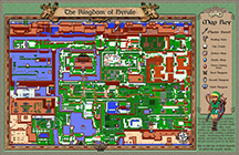 Zelda : The Legend of Link Map