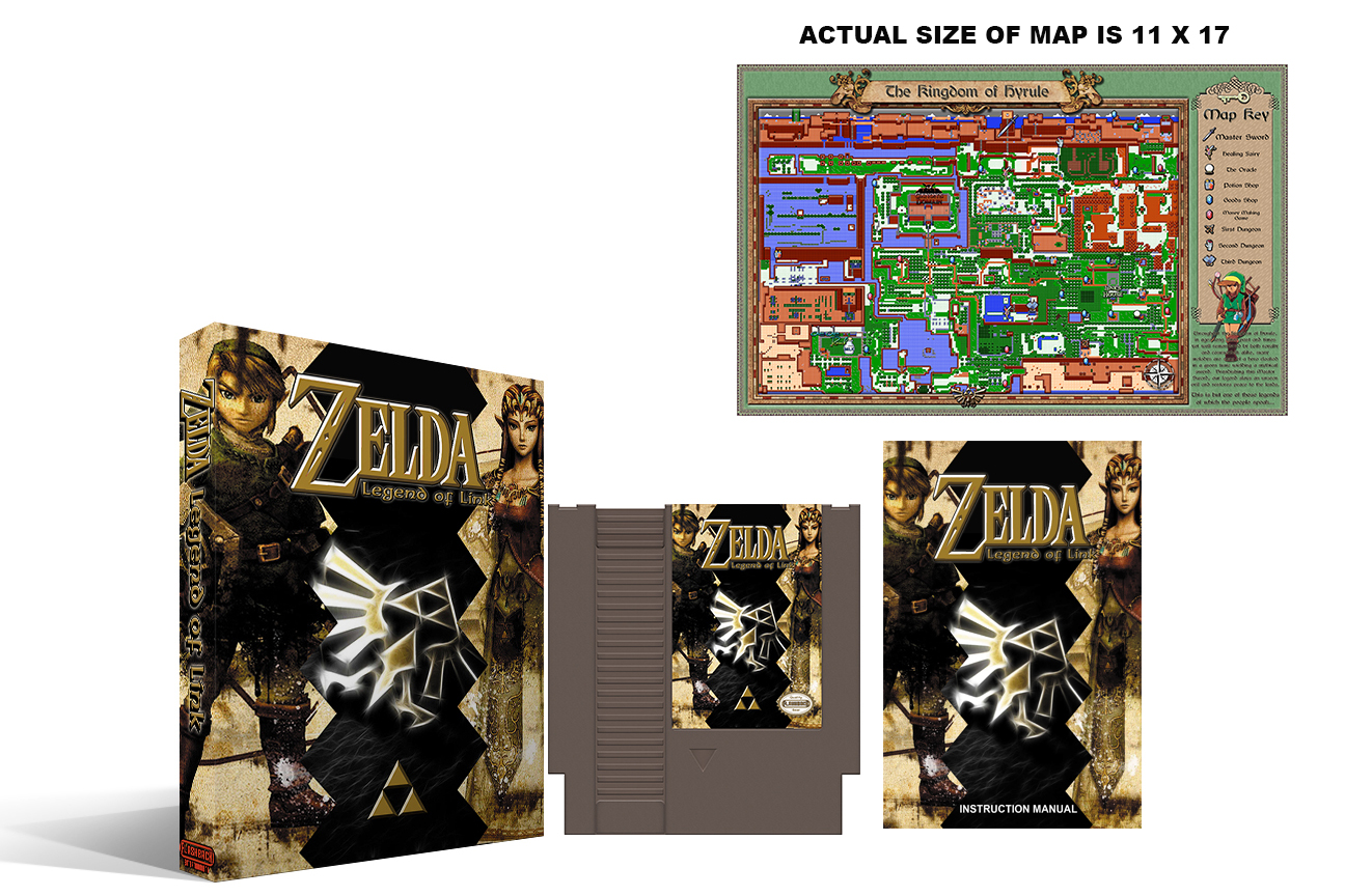 Zelda : Legend of Link (2nd Run) Complete Box Set