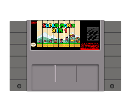Super Mario World 8 in 1 Multi Cart